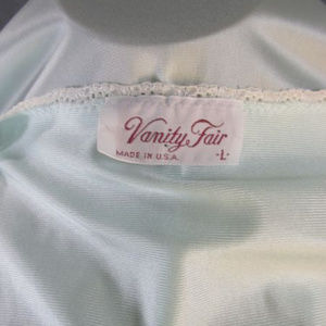 8fe8077286 Vanity Fair Intimates   Sleepwear - Vanity Fair Mint Green Nylon Button  Robe Nightgown